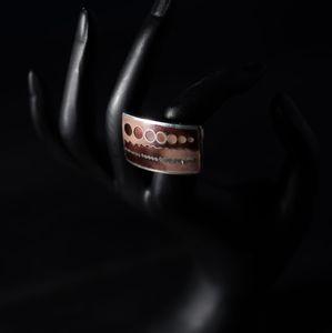 Handmade statement enamel ring